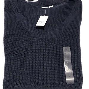 GAP V-Neck Blue Sweater Size Large